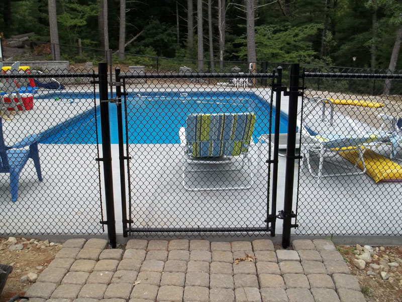 Chain link fence south east fence supply - Swimming pool fencing options consider ...